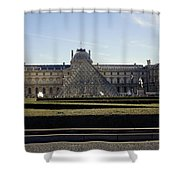 Musee Du Louvre In Paris France Shower Curtain