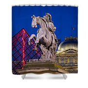 Musee Du Louvre Statue Shower Curtain