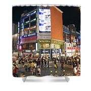 Myeongdong Shopping Street In Seoul South Korea Shower Curtain