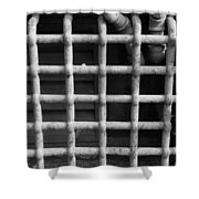 N Y C Grates In Black And White Shower Curtain