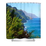 Na Pali Coast Kauai Shower Curtain
