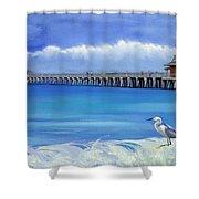 Naples Pier Naples Florida Shower Curtain