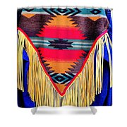Native American Shawl  Shower Curtain