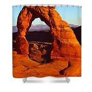 Natural Arch In A Desert, Delicate Shower Curtain