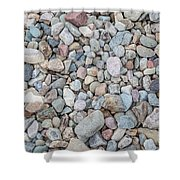 Natural Rock Pebble Backgorund Shower Curtain