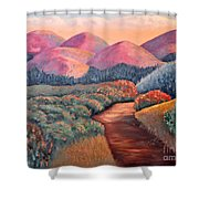 Natures Path Shower Curtain
