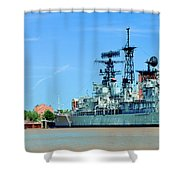 Naval Park And Museum Shower Curtain