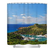 Nelson's Dockyard Shower Curtain