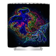 Neon Jelly Shower Curtain