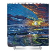 Never Ending Sea Shower Curtain