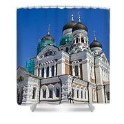 Nevsky Cathedral - Tallin Estonia Shower Curtain