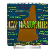 New Hampshire State Pride Map Silhouette  Shower Curtain