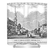 New Jersey Newark, 1844 Shower Curtain