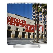 New Wing Of The San Jose Museum Of Art Shower Curtain