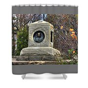 New York At Gettysburg - 140th Ny Volunteer Infantry Little Round Top Colonel Patrick O' Rorke Shower Curtain