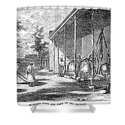 New York Bell Foundry Shower Curtain