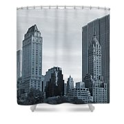 New York City From Central Park Shower Curtain