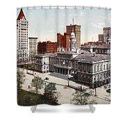 New York City Hall 1900 Shower Curtain