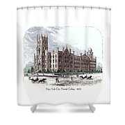 New York City Normal College - 1870 Shower Curtain