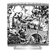 New York Locomotive, 1831 Shower Curtain