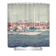 Newport Beach Panorama Shower Curtain