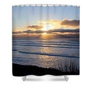 Newport Oregon Sunset Shower Curtain