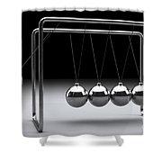 Newtons Cradle Shower Curtain