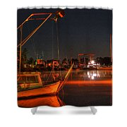 Night In The Harbor Shower Curtain