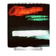 Night Lights Orange Drive-in 2 Shower Curtain