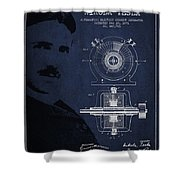 Nikola Tesla Patent From 1891 Shower Curtain