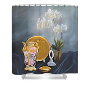 Nippon And Orchids Shower Curtain