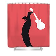 No002 My The Who Minimal Music Poster Shower Curtain by Chungkong Art