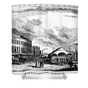Norfolk, Virginia, 1856 Shower Curtain