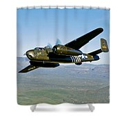 North American B-25g Mitchell Bomber Shower Curtain