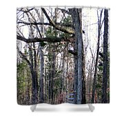 North Texas Trees Shower Curtain