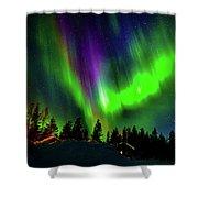 Northern Lights, Lapland, Sweden Shower Curtain