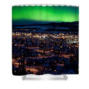 Northern Lights Over Whitehorse Shower Curtain