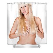 Nude Blonde Shower Curtain