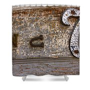 Number Seven  Shower Curtain