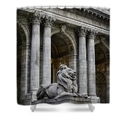 Ny Library Lion Shower Curtain