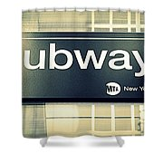 Nyc Subway Sign Shower Curtain