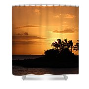 Oahu Sunset Shower Curtain