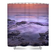 Ocean And Lava Rocks At Sunset Puuhonua Shower Curtain