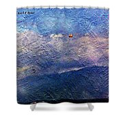 Ocean As A Painting Shower Curtain