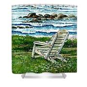 Ocean Chair Shower Curtain