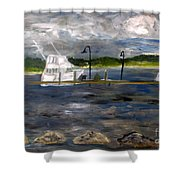 Ocean Inlet Marina Shower Curtain