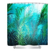 Ocean Plants Shower Curtain