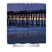 Oceanside Pier Sunset Shower Curtain