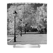 October Infrared Shower Curtain