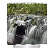 Odom Creek Waterfall Georgia Shower Curtain